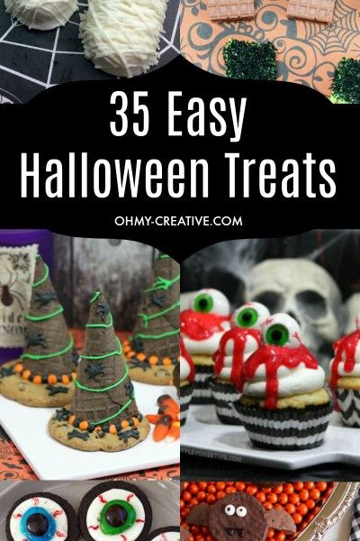 OHMY-CREATIVE.COM | Easy Treats | Treats for Kids | Easy Halloween Activities | Easy Halloween Treats | Fall Desserts | Halloween Desserts | Fall Treats for Kids | Easy Fall Recipes | Simple Fall Desserts | #halloweendesserts #halloweentreats #easyhalloweentrests #easyhalloween #halloween