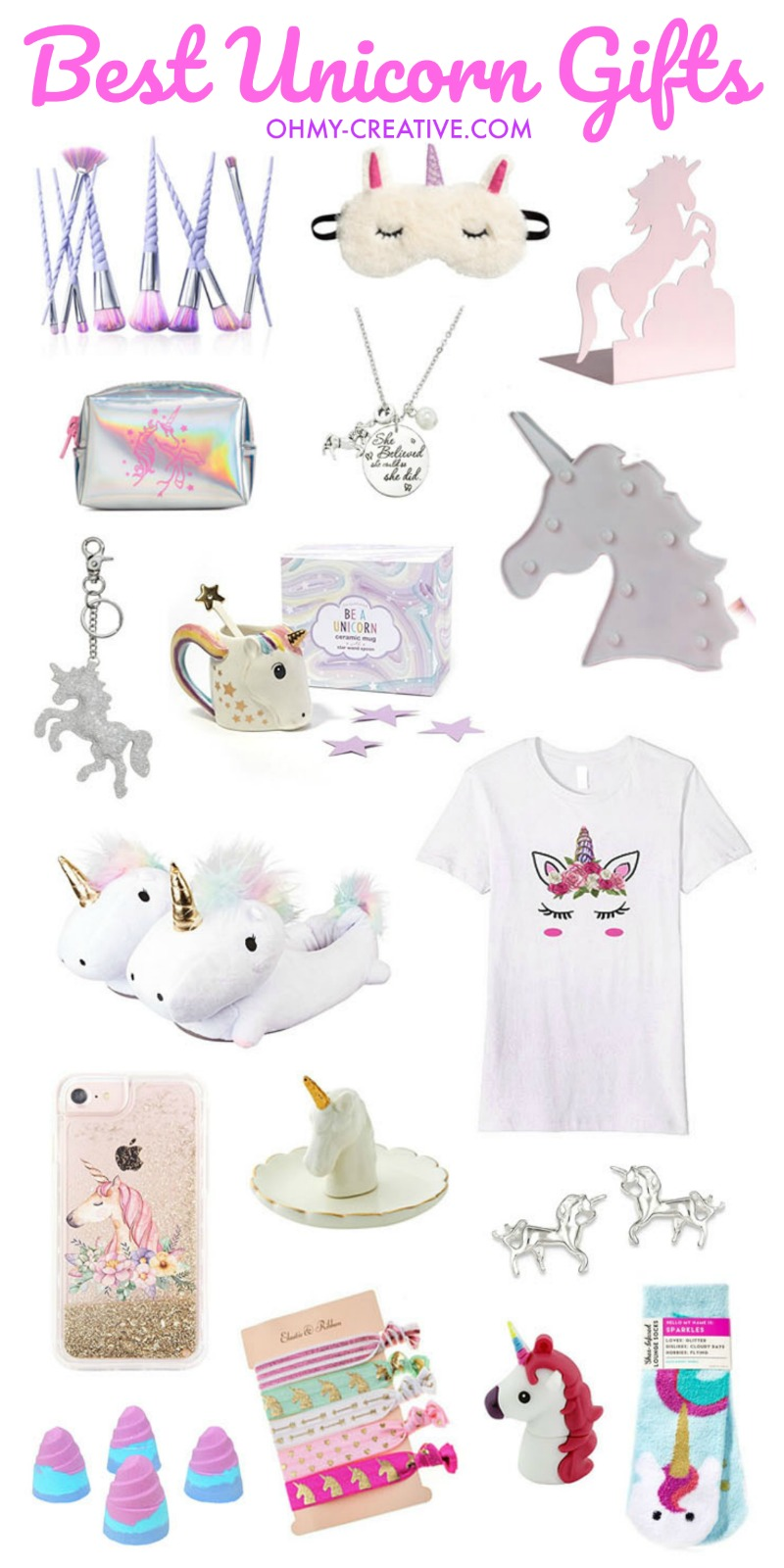 Best Unicorn Gifts Ideas | OHMY-CREATIVE.COM | Unicorn Stuff | Unicorn Things | Unicorn Items | Best Unicorn Gifts | Unicorn Shirt | Best Gifts For Girls | Gifts for Teens