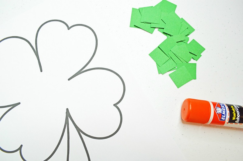 Coloring Pages For New Years 2016 : Cut and paste shamrock template or coloring page oh my creative