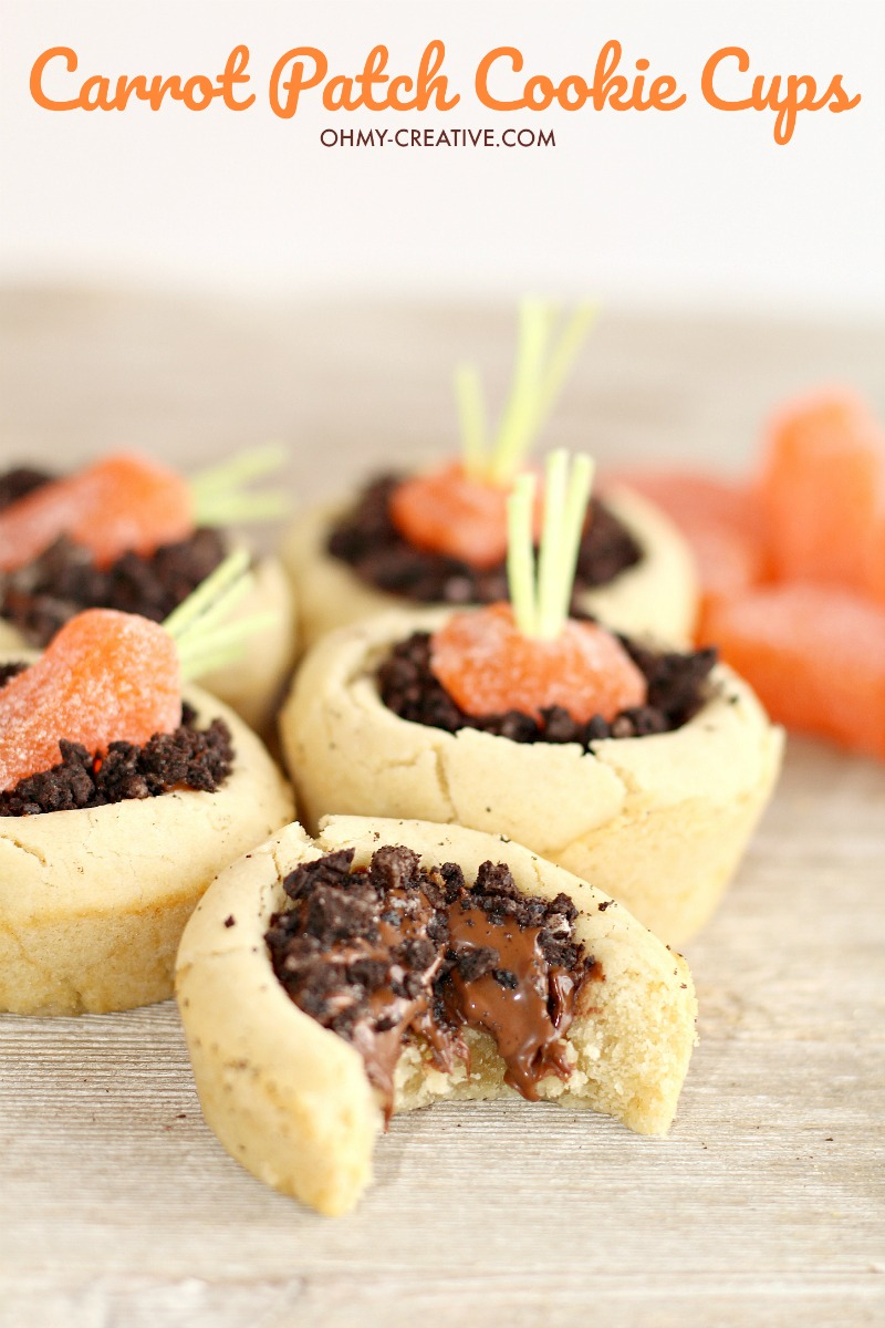Carrot Patch Cookie Cups
