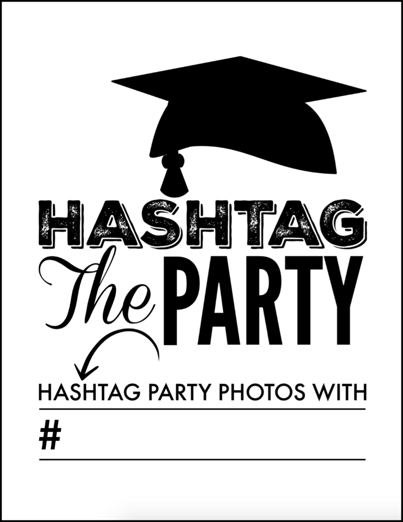 picture relating to Free Printable Graduation Photo Booth Props identify Enjoyable Commencement Social gathering Printables towards Rejoice Your Preferred