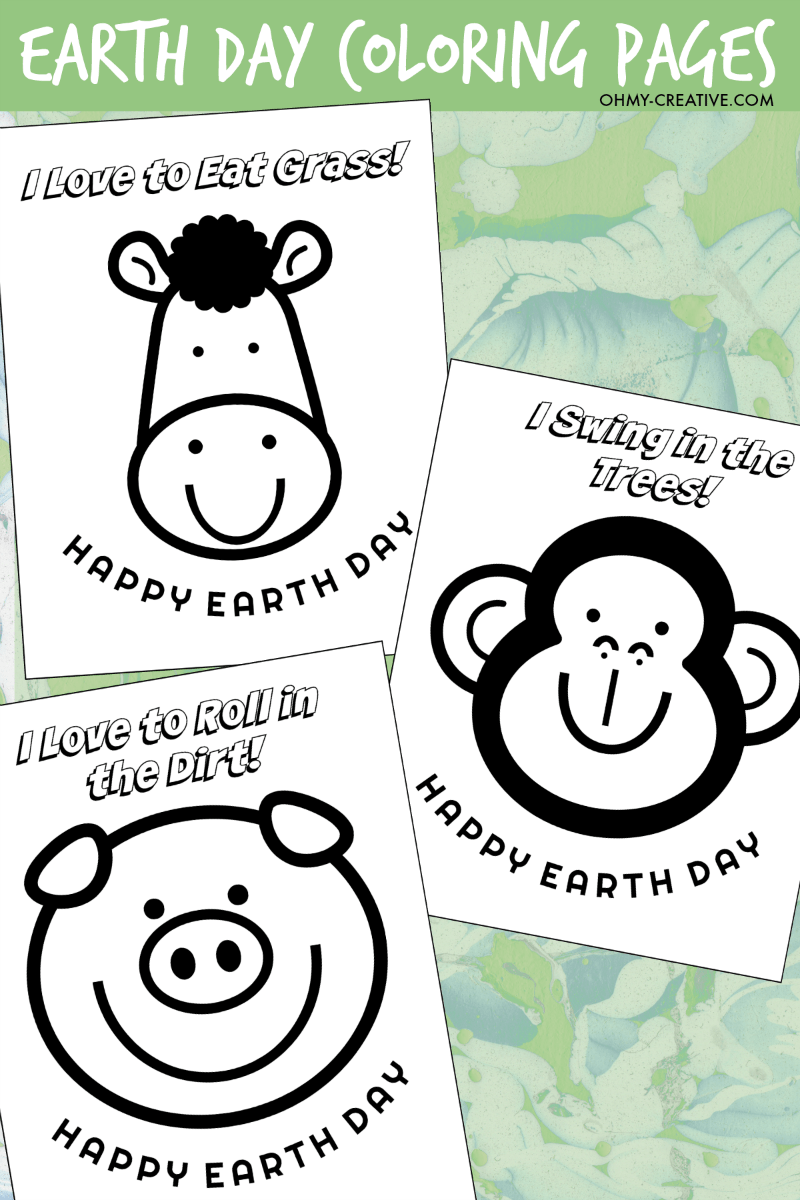 Earth Day Coloring Pages | OHMY-CREATIVE.COM | Earth Coloring pages | Earth Day Printables | Earth Day Coloring Sheets | Earth Day Activities | Earth Day Activities | Earth Day Crafts #earthday #coloringpages #printables