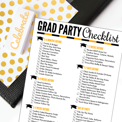 Plan the Perfect Party with a Free Printable Graduation Party Checklist