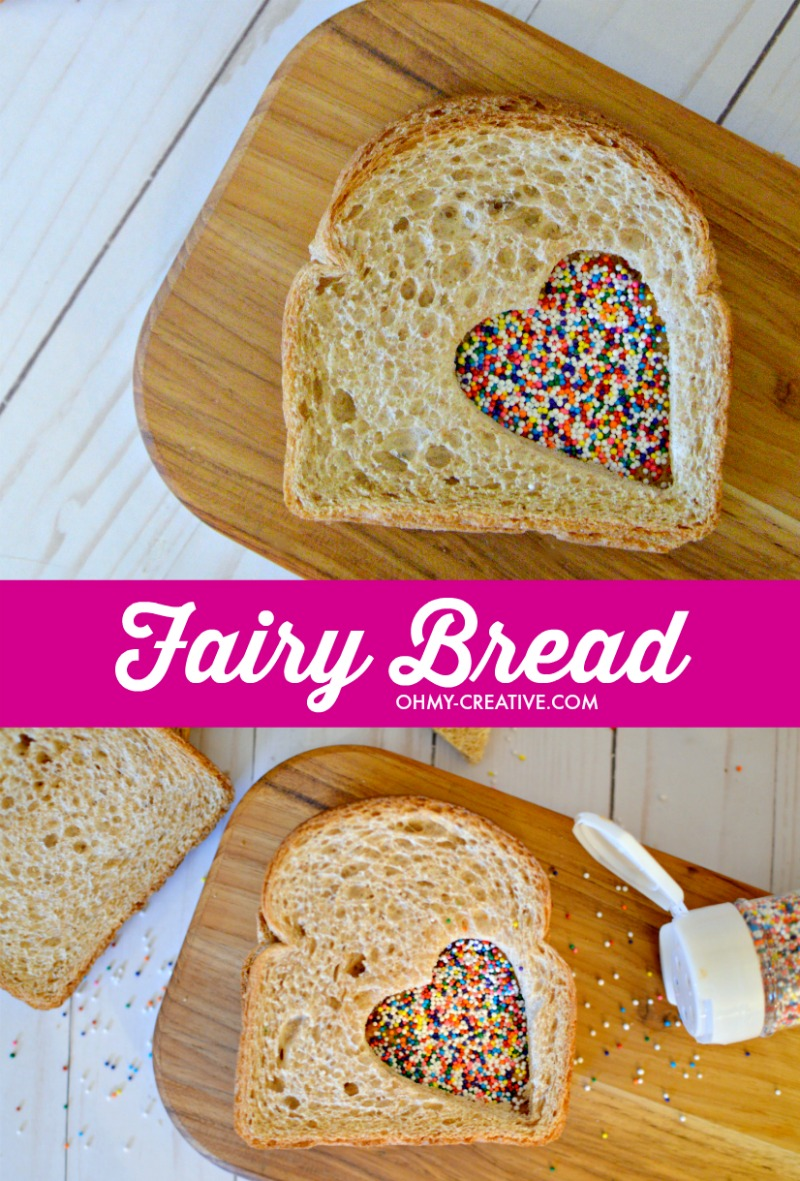 How to make Fairy Bread - a fun party treat for kids to eat. OHMY-CREATIVE.COM   Fairy Bread Recipe   Fairy Bread   Fairy Sandwich Kids Birthday Party   Kids Treat #fairybread #fairybreadrecipe #party #howtomakefairybread
