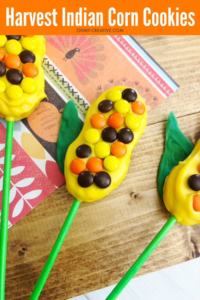 Harvest Indian Corn Cookies