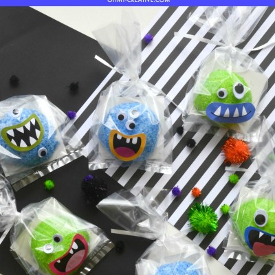 Halloween Monster Mouths Snowball Treats With Printable Mouths