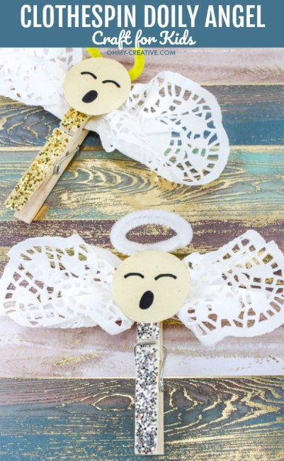 Easy Clothespin Doily Angel Crafts For Kids