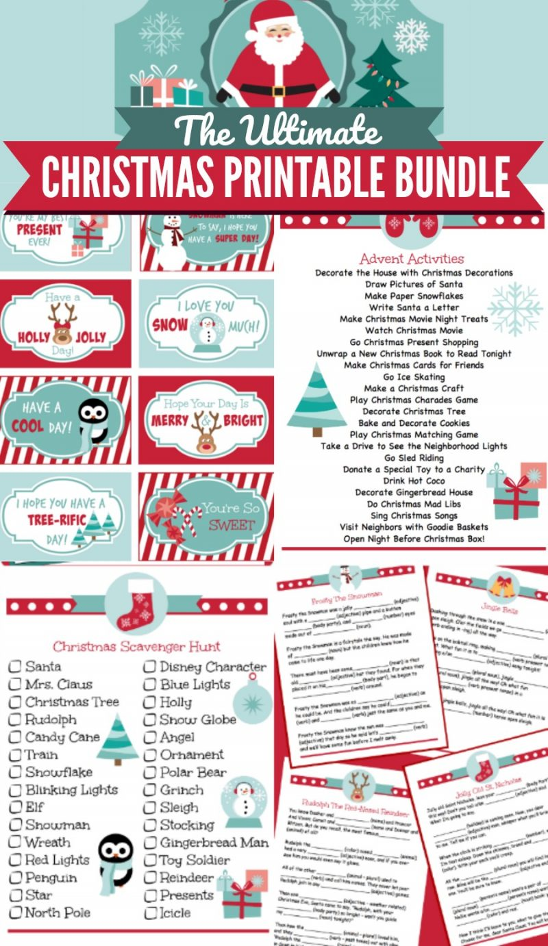 image about Christmas Printable identify Xmas Printable Offer - Oh My Innovative