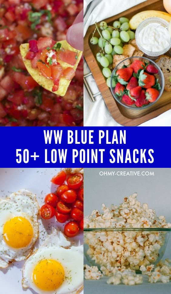 Weight Watchers tasty Low SmartPoint Snacks for when you're are feeling hungry.