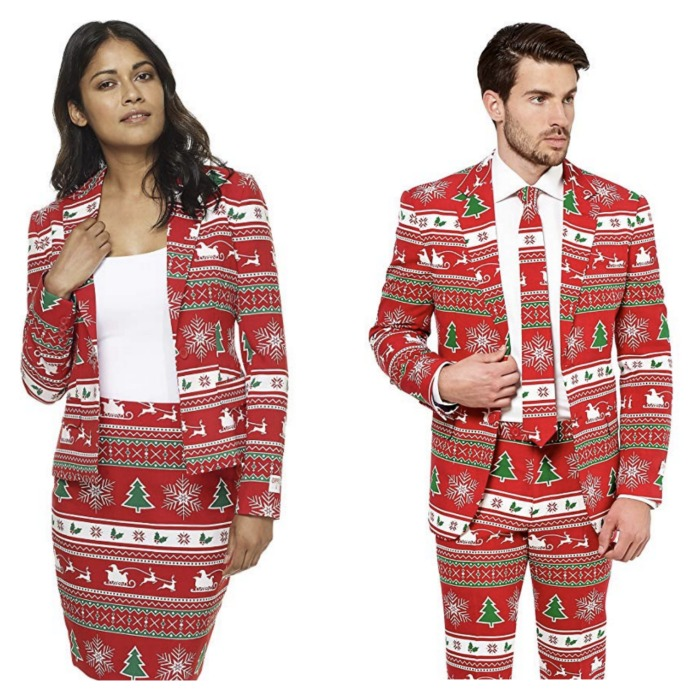 10 Of The Best Couples Ugly Christmas Sweaters - Festive couples ugly Christmas sweater party suits