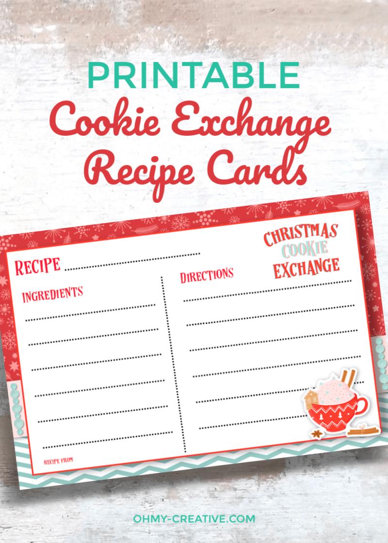 Free Printable Cookie Exchange Recipe Cards