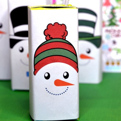 Free Printable Snowman Juice Box Covers