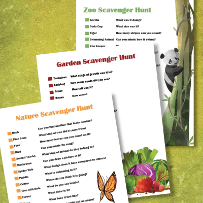 Fun Nature Scavenger Hunt Printables For Kids