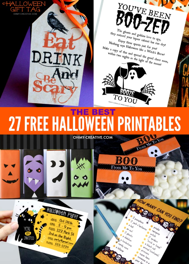 27 Halloween Free Printables for kids and adults that you can use to save money this Halloween without missing out on the Halloween fun!