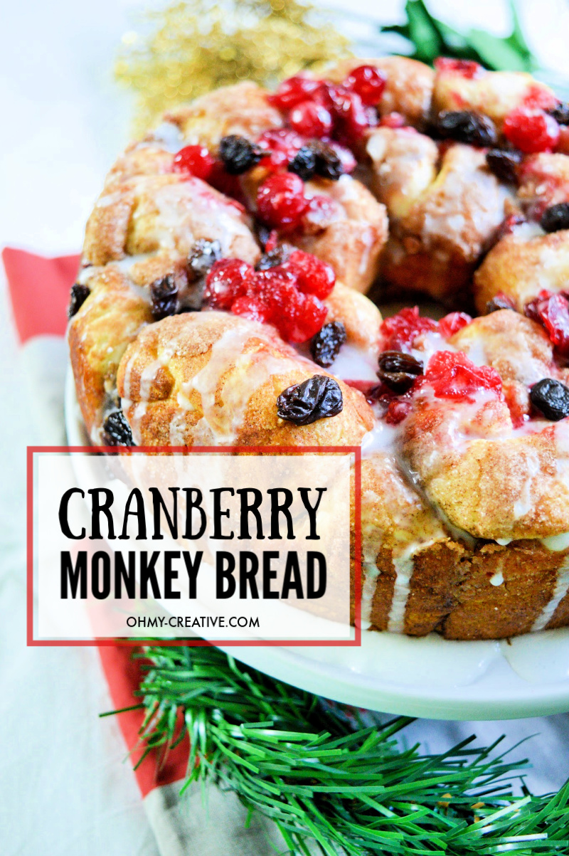 Pillsbury Cranberry Raisin Monkey Bread For The Holidays
