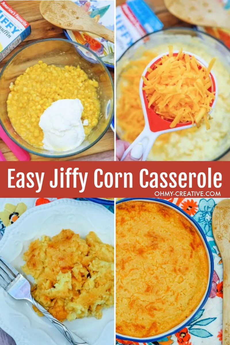 Easy step by step instructions to make corn casserole with Jiffy. Perfect for weeknight meals or a holiday side dish.