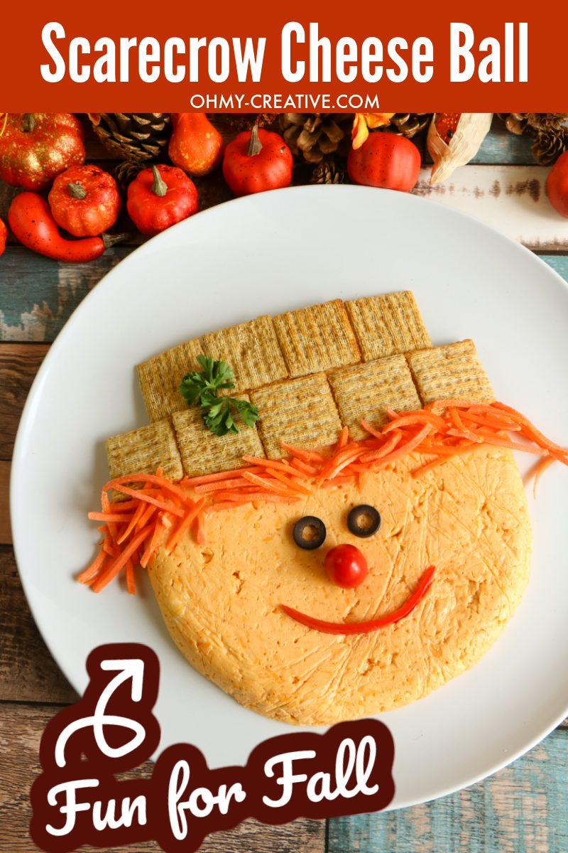 Fall Appetizer – Scarecrow Cheese Ball