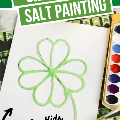 Shamrock Raised Salt Painting Craft For St. Patrick's Day