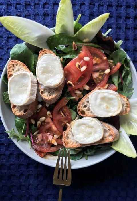 show Warm Goat Cheese Salad