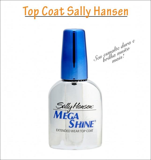 Acabamento unhas Sally Hansen Mega Shine