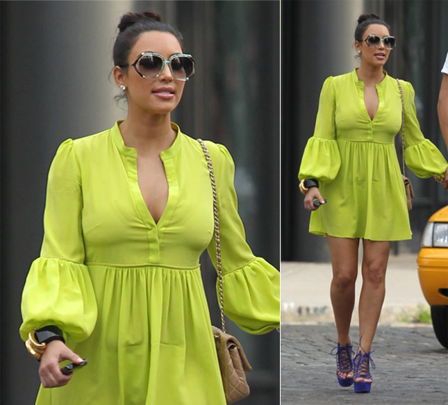 Deslize Kim Kardashian roupa errada