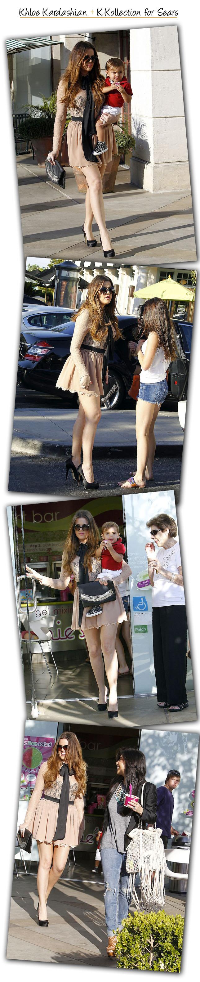 Look Kardashian usando sua coleção para a Sears