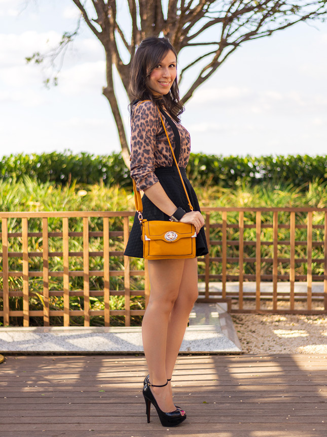 preppy style look do dia estilo preppy blog de moda oh my closet renner saia suspensorio sandalia schutz animal print