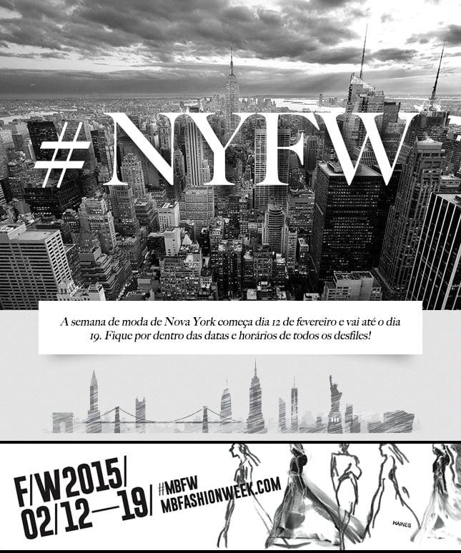 Preparada para seu fashion show preferido? A programação do New York Fashion Week está no blog!