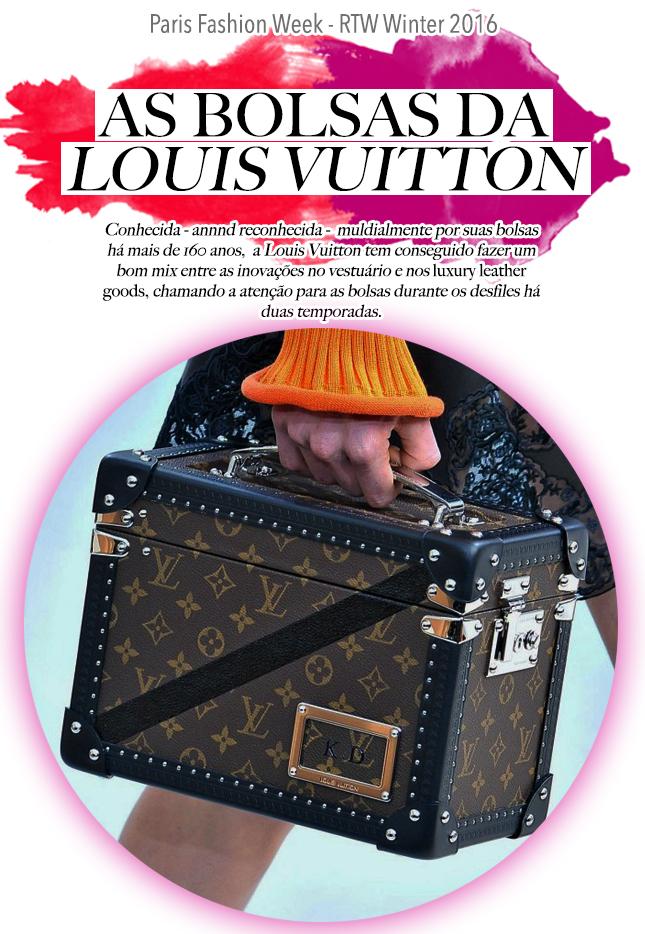 As Bolsas Louis Vuitton estão muito mais modernas, puro desejo!