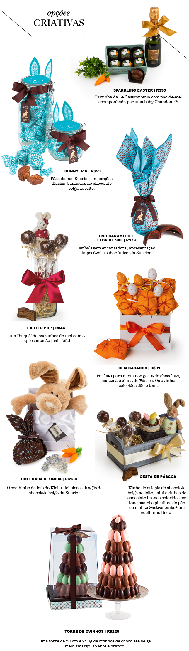 Opções de presentes de Páscoa super criativos na Found It!