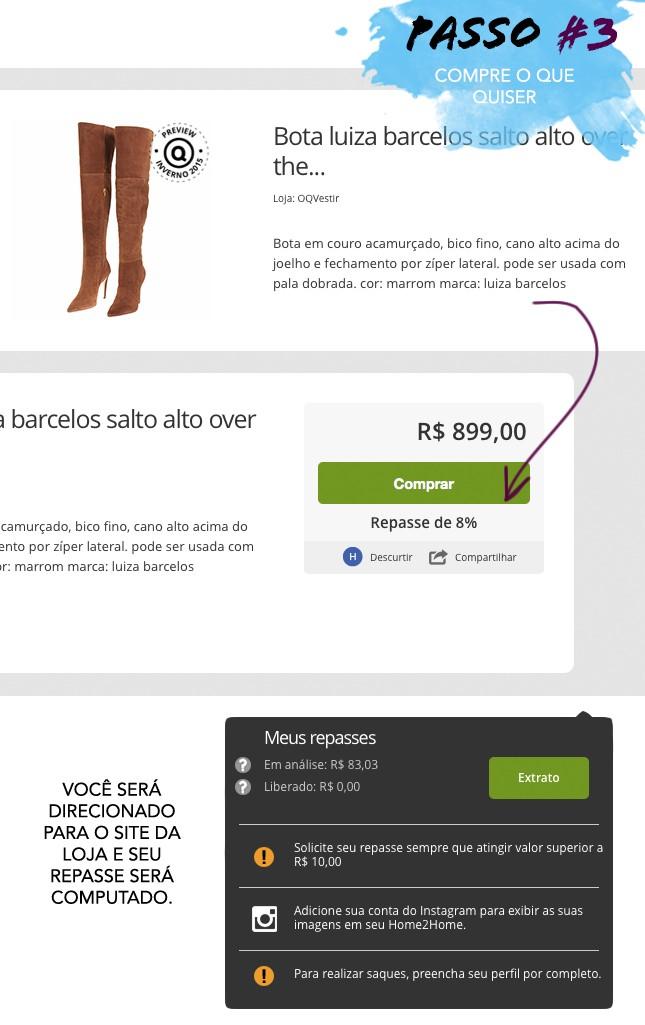 Compre através do H2H para ganhar dinheiro online!