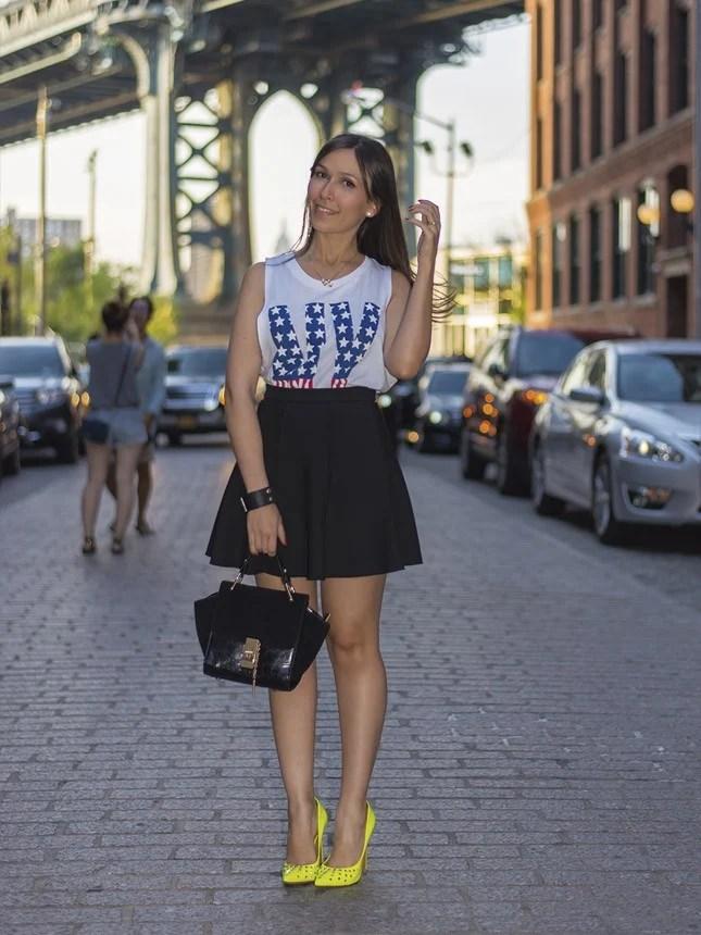 A blogueira Mônica Araújo, nos bastidores do guia de Nova York #NYexperience.