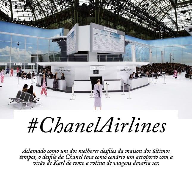 Chanel Airlines: o desfile SS 16 da Chanel foi demais! Vem ver no blog Oh My Closet!