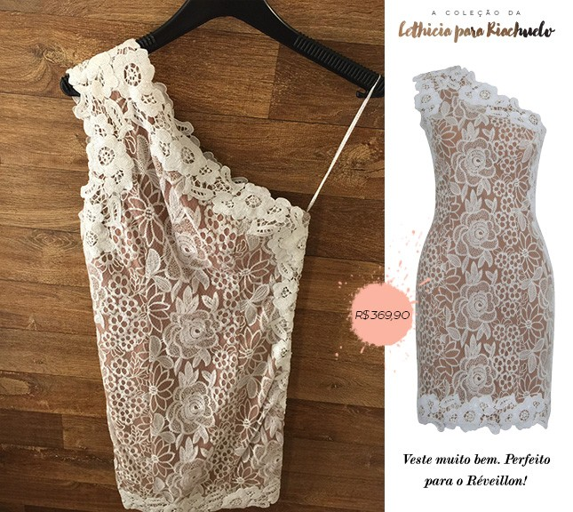 Vestido de renda Lethícia para Riachuelo, veja os detalhes no blog Oh My Closet!, por Mônica Araújo.