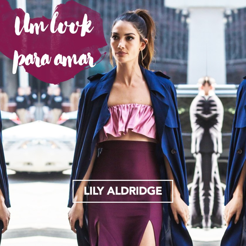 Um look para amar: o da Lily Aldridge em NYC essa semana! Vem ver todos os detalhes no Oh My Closet!