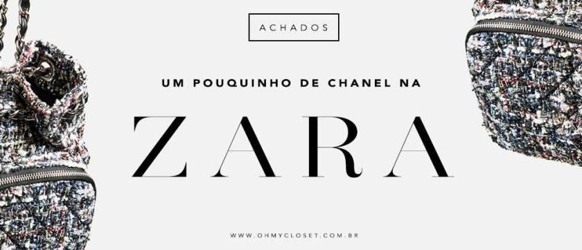 Chanel Inspired na Zara mochila de tweed.