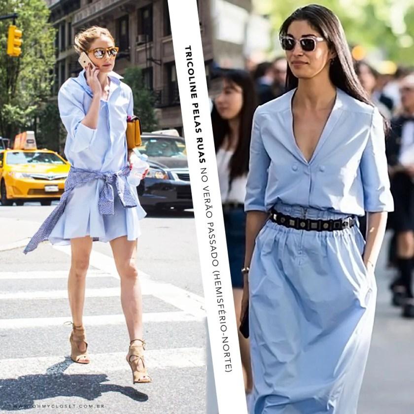 Tricoline Street Style Olivia Palermo Poplin Dress Tendência Verão 2016, no Oh My Closet, por Mônica Araújo.