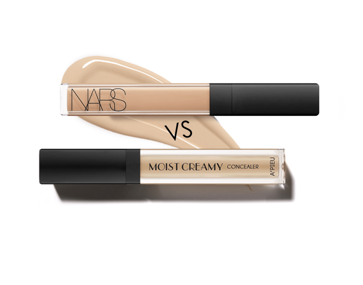 A'pieu Moist Creamy Concealer Review and Comparison to NARS Radiant Creamy Concealer