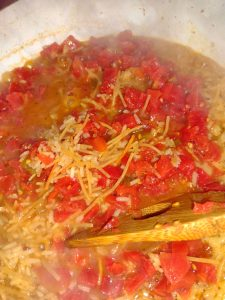 diced tomatoes and rice