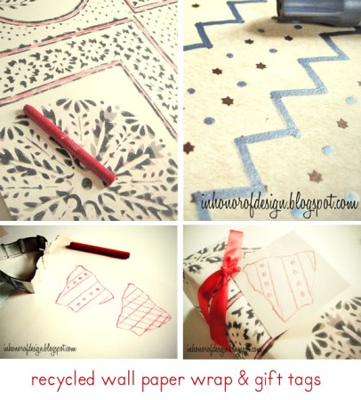 handmade gift wrap, wrapping paper DIY, craft challenge, grace hester