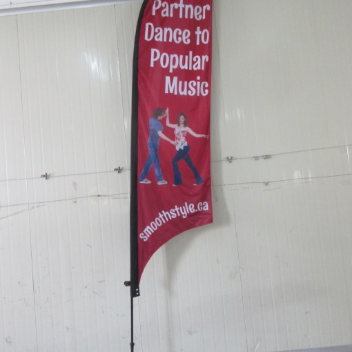 Double Sided Convex Feather Flag with cross Base