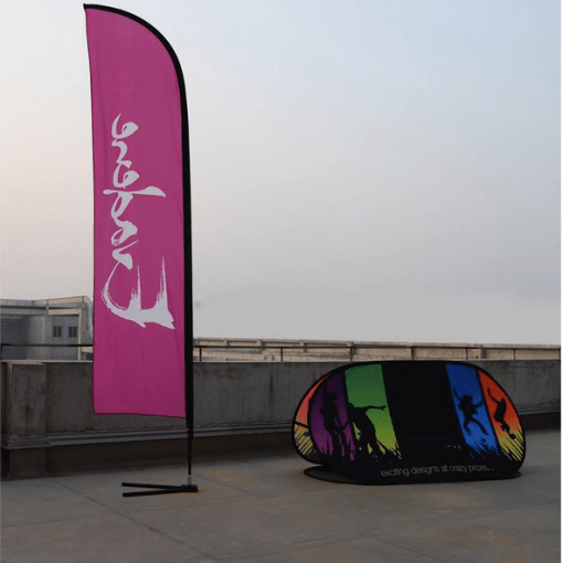 Feather flag and Pop up Banner