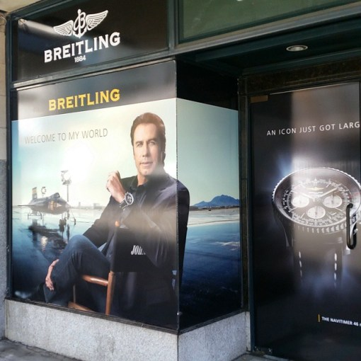 Self Adhesive Window Advertising Instalation