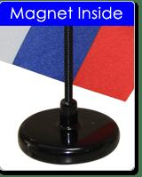 Magnetic flag base