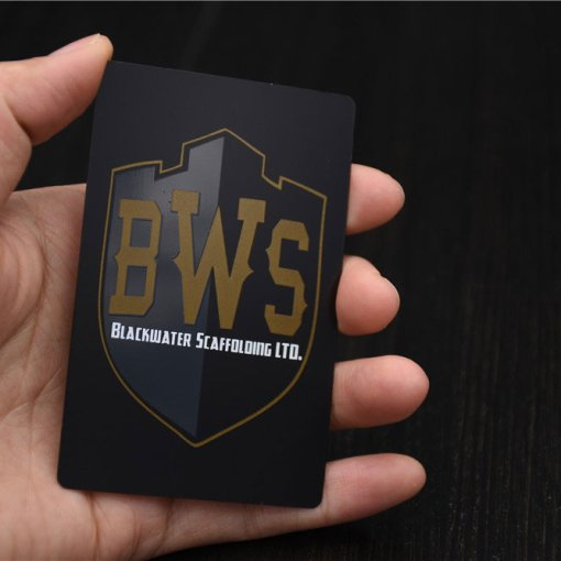 Custom-Matte-Black-Metal-Business-Cards