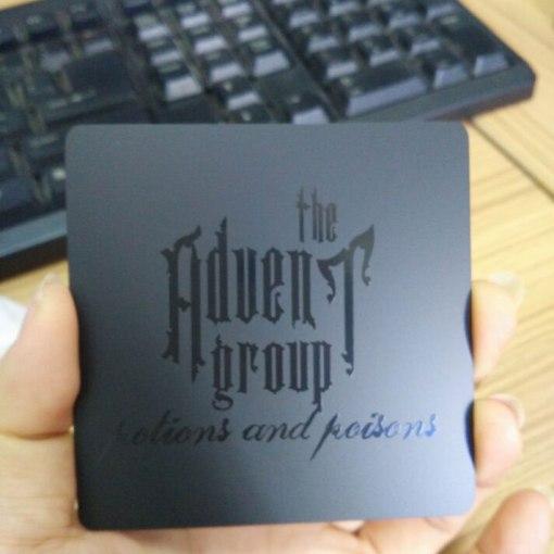 Die-Cut-Matte-Black-Metal-Card-with-Black-Screen-Print