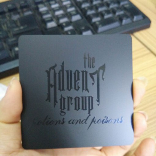 Die-Cut-Matte-Black-Metal-Card-with-Black-Screen-Print
