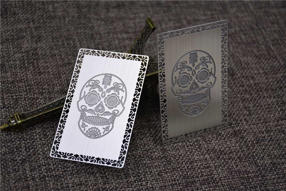 Deep Etch Metal Business Cards