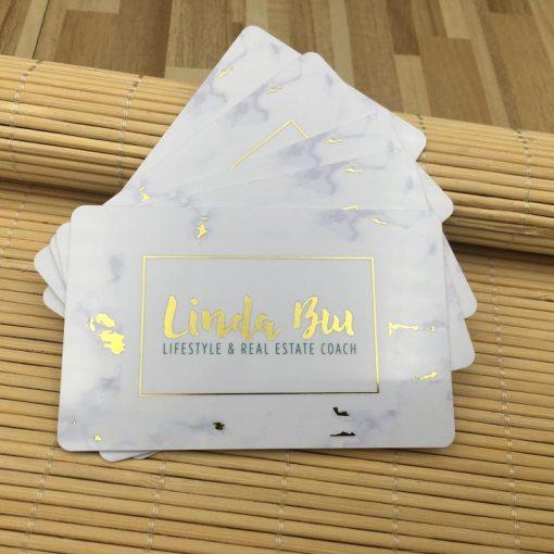 Gold-Foil-Business-Cards-PVC