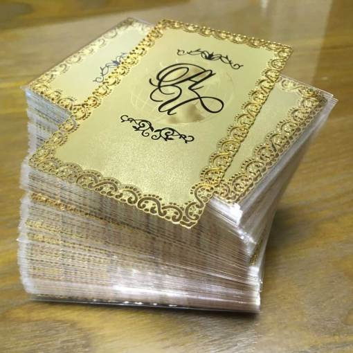 Frosted-Gold-Metal-Cards
